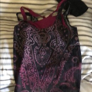 Funky patterned Athleta exercise top